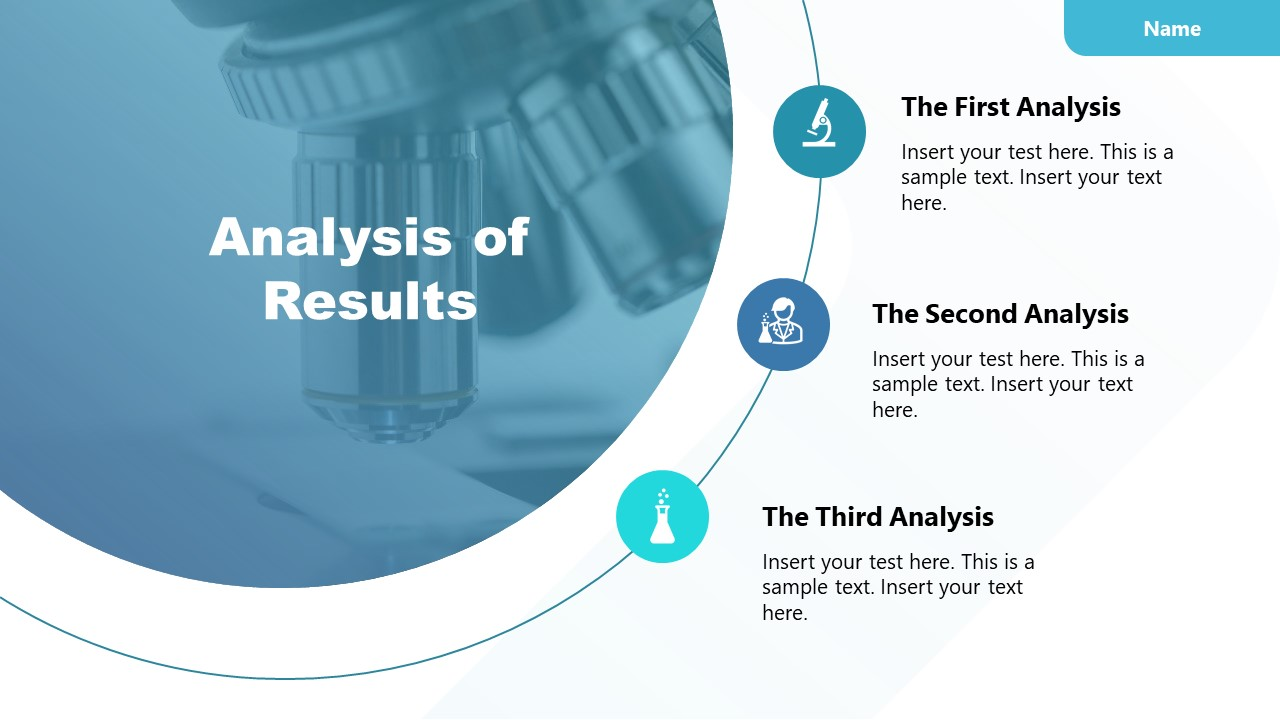 Template of Analysis Experiment Results Presentation