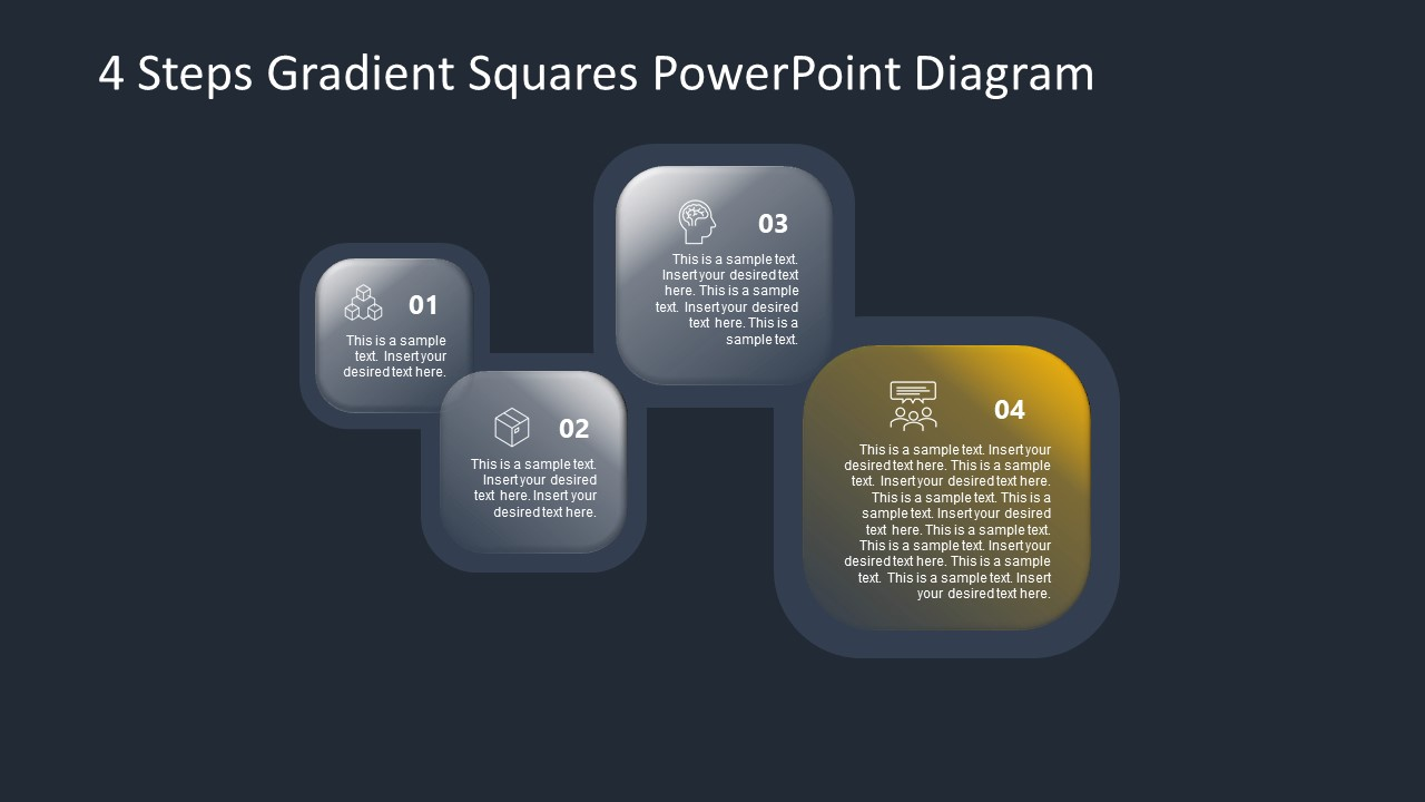 PowerPoint Diagram for Gradient Step 4