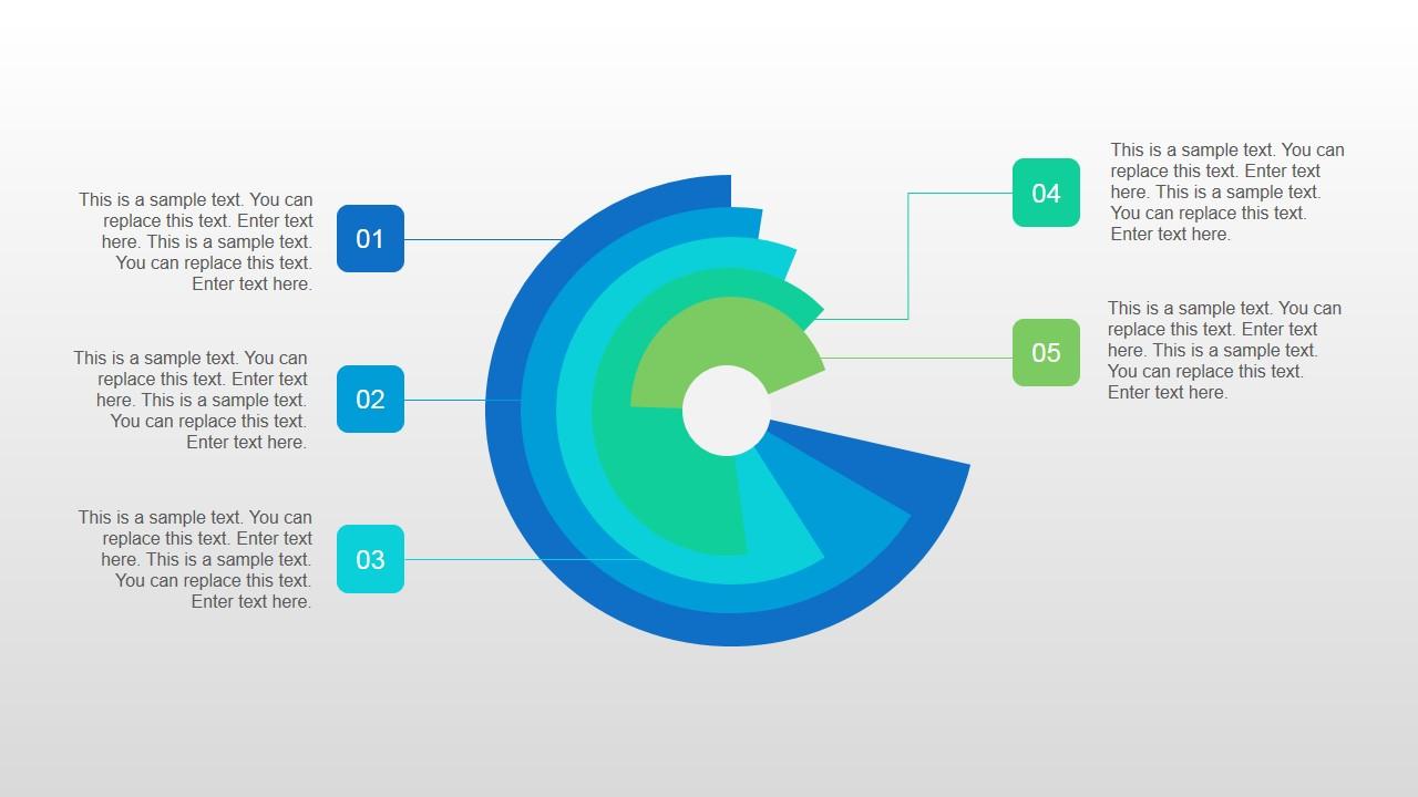 Circular Data Chart Slide Design for PowerPoint