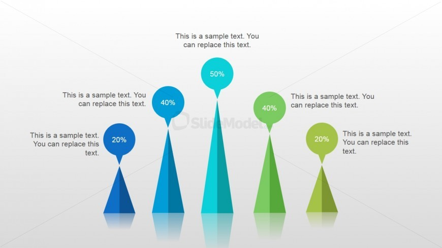 Cone Chart Slide Design for PowerPoint