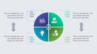 Circular Diagram & Quadrant for SWOT Analysis Presentations
