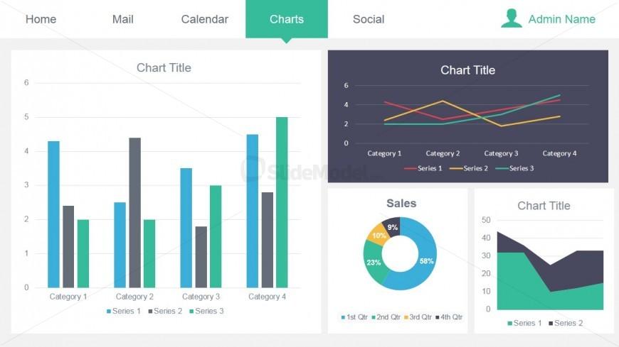 Data Dashboard Chart Slide for PowerPoint