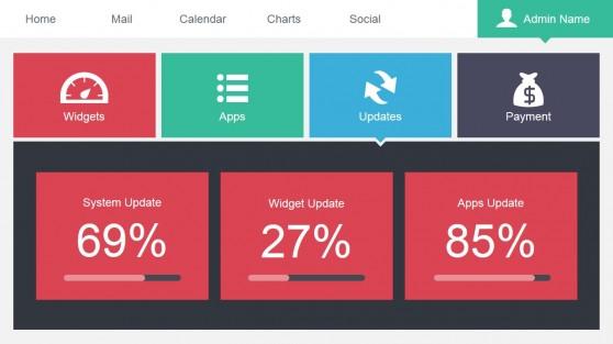 Data Dashboard Updates Slide Design