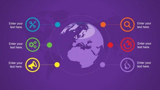 Global Earth Slide Design Background