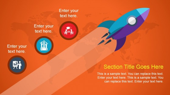 Animated Rocket PowerPoint Slide Design