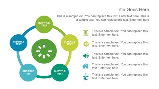 Circular Diagram Design with 5 Steps