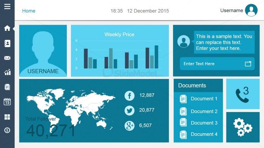 Smart Dashboard PowerPoint Slide Design