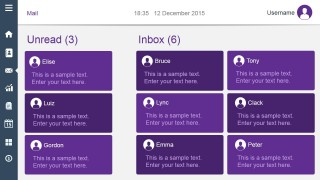 Unread Inbox Dashboard Slide Design Violet Style