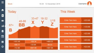 Today Dashboard Slide Design Orange Style
