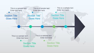 Animated Timeline Design for PowerPoint Right Arrow
