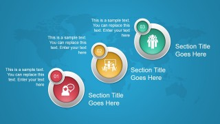 Animated Concept Slide Design with 3 Circular Elements