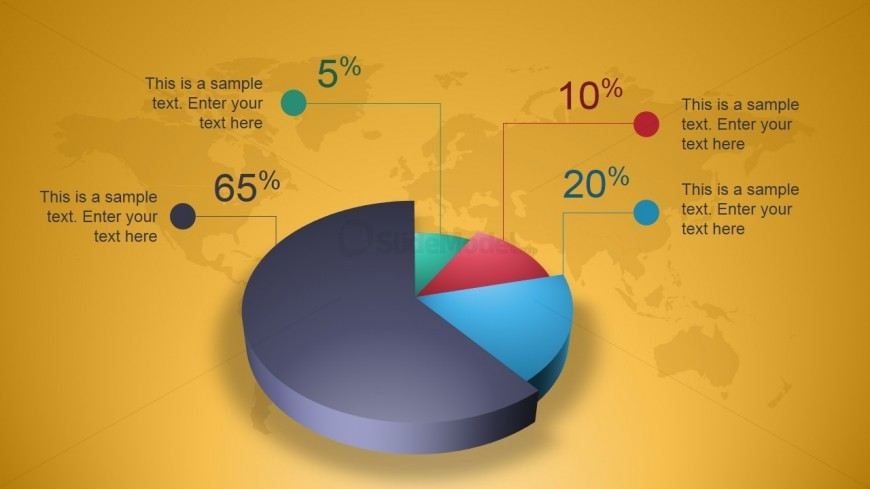 Creative 3d Perspective Pie Chart For Powerpoint Slidemodel