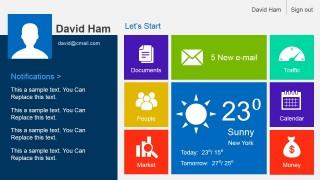 Metro Dashboard PowerPoint Slide Design