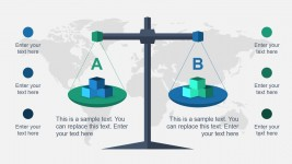 Balance the Scales Diagram Slide for PowerPoint
