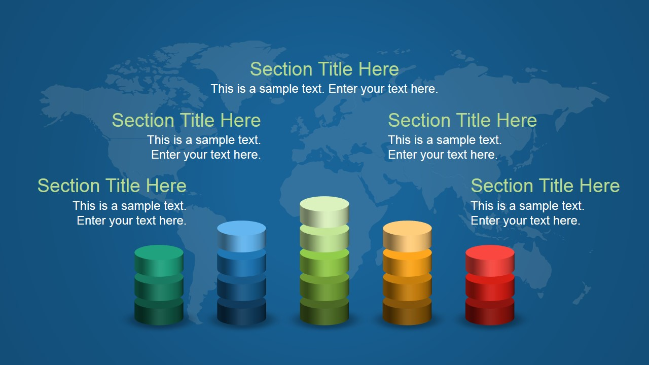 3D Stacked Bar Chart Slide Design