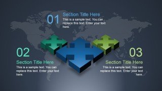 3D Diverging Arrows Slide Design for PowerPoint
