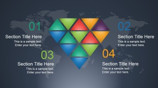 Creative Diamond Slide Design for PowerPoint with 4 Steps
