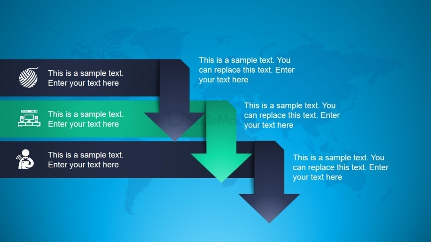 Animated Arrows Diagram for PowerPoint