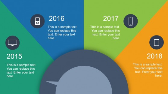 Animated Dial Timeline Design for PowerPoint