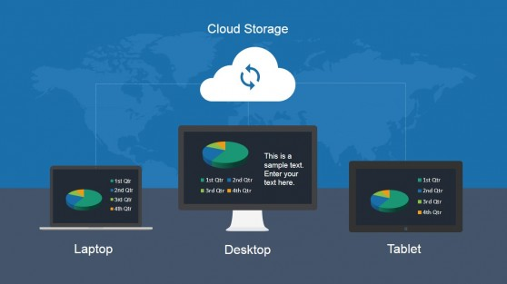 Cloud Storage Slide Design for Technology Presentations