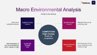 Macro Environmental Analysis with Porter's Five Forces Model