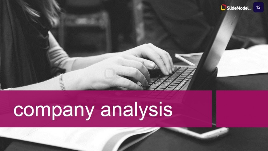 PowerPoint Template Describing Company Analysis for Case Study