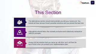Slide Design for Business Case Study Alternative Options