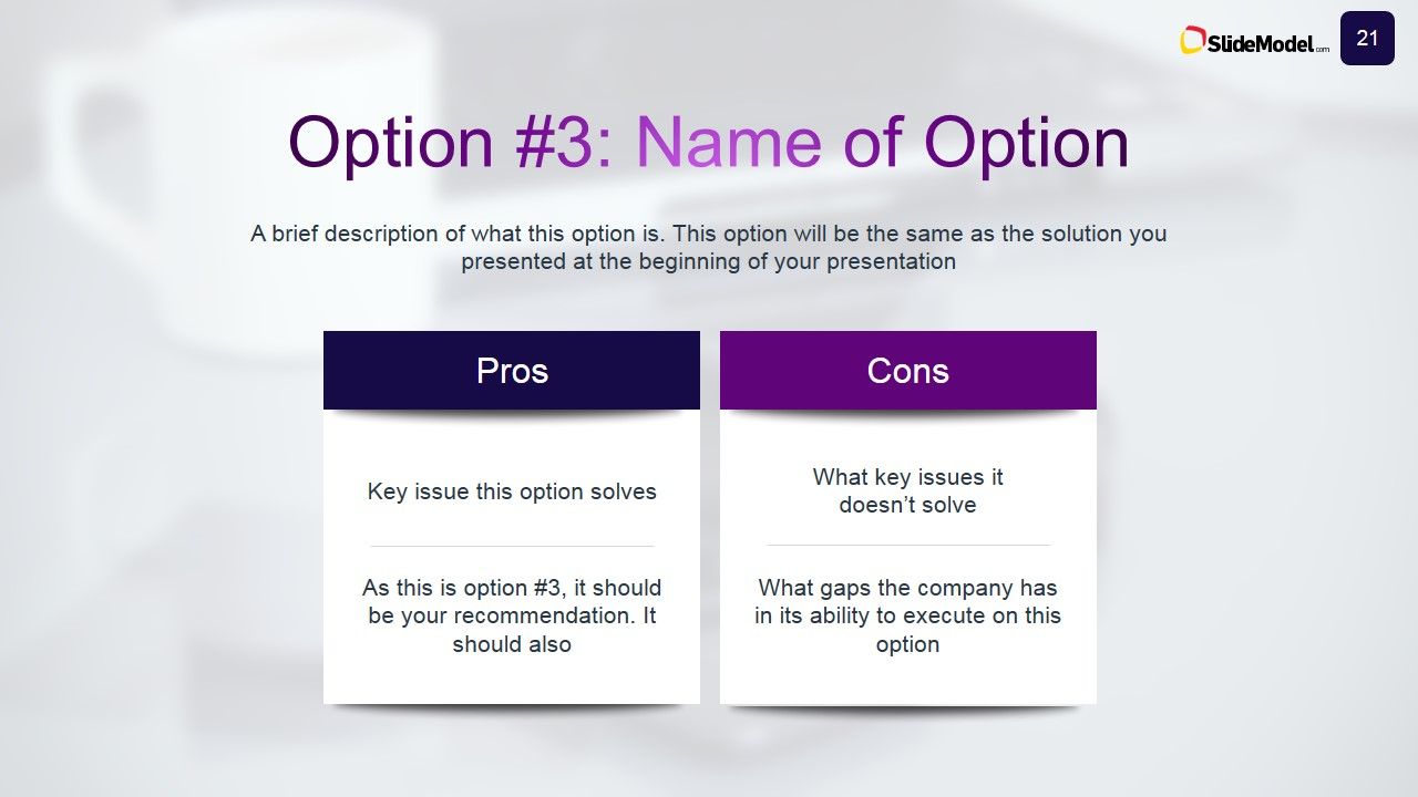 decision analysis with pros & cons case study - slidemodel, Powerpoint templates