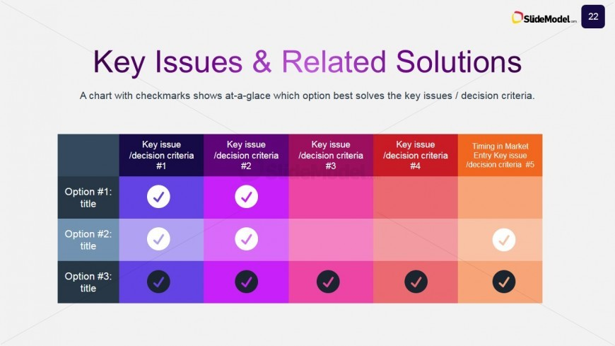 Case studies key issues solutions powerpoint comparison table powerpoint template of comparison table for case studies solutions toneelgroepblik Image collections