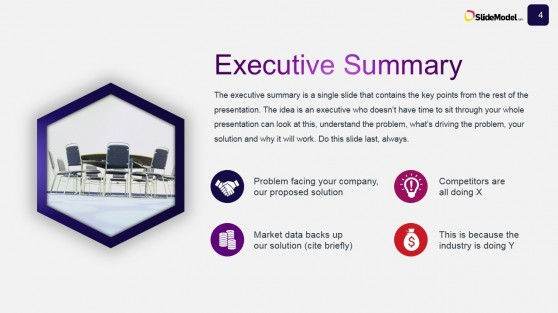 Business Case Studies Executive Summary Slide Design