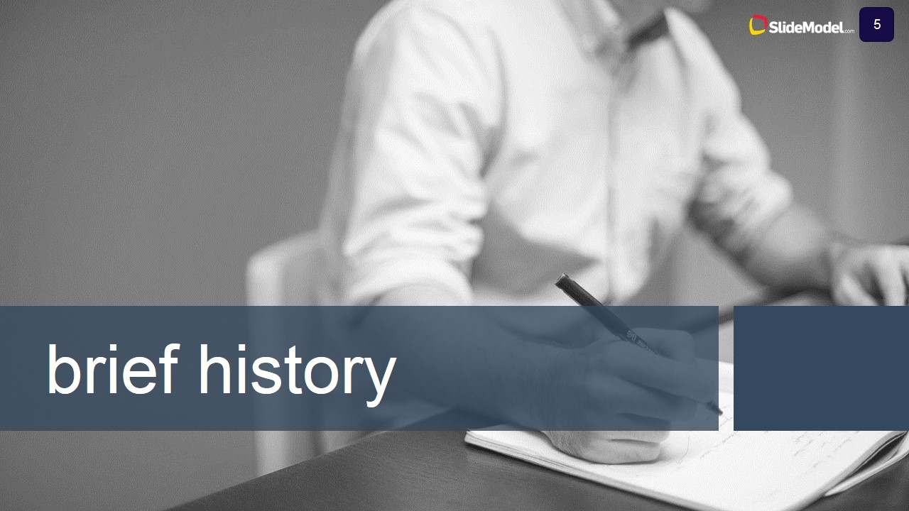 Case Study Brief History Slide Description - SlideModel