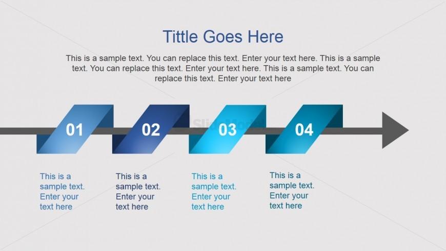 Horizontal Timeline Slide Design