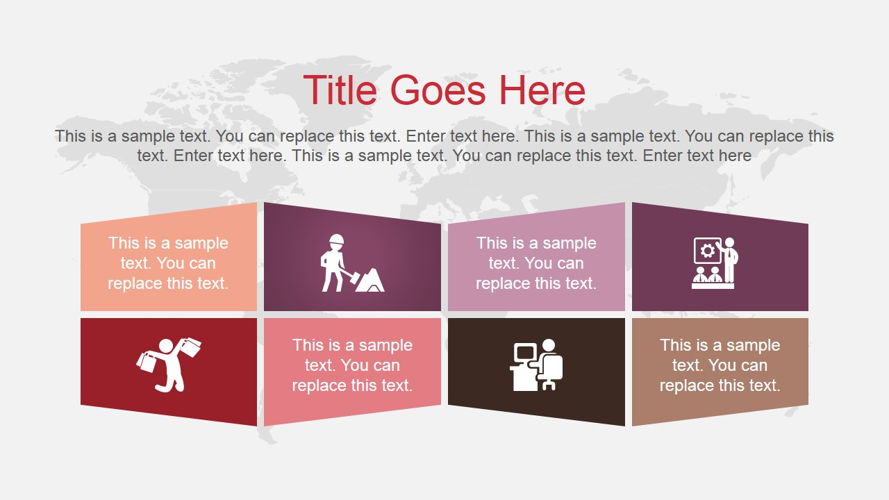 vibrant color shade powerpoint template slidemodel