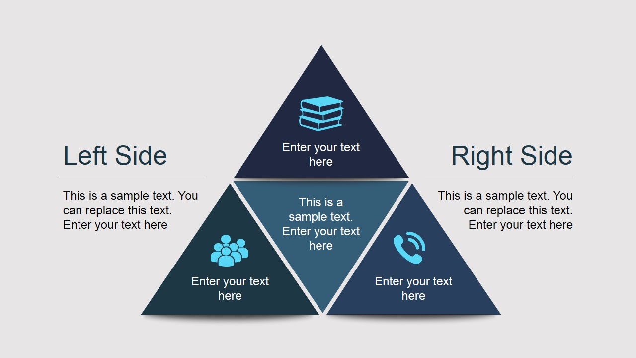 pyramid diagram for powerpoint with triangles