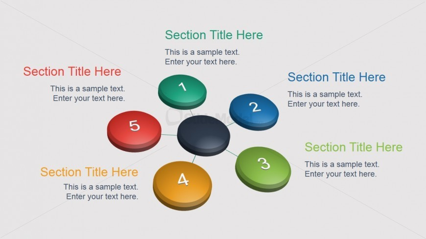 5 Steps Diagram Graphic Design for PowerPoint