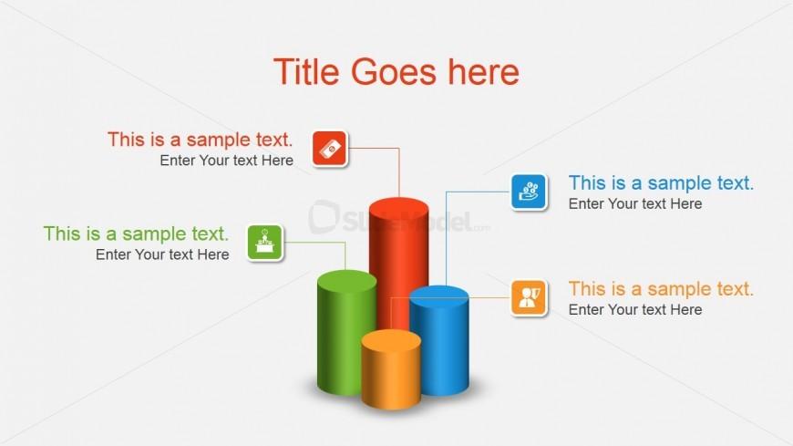 3D Bar Chart Concept for PowerPoint