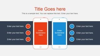 Smartphone Vector & Comparison Slide for PowerPoint