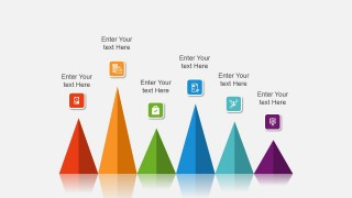 Colorful Cone Chart for PowerPoint