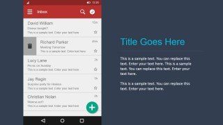 PowerPoint Widgets for Android Email Interface