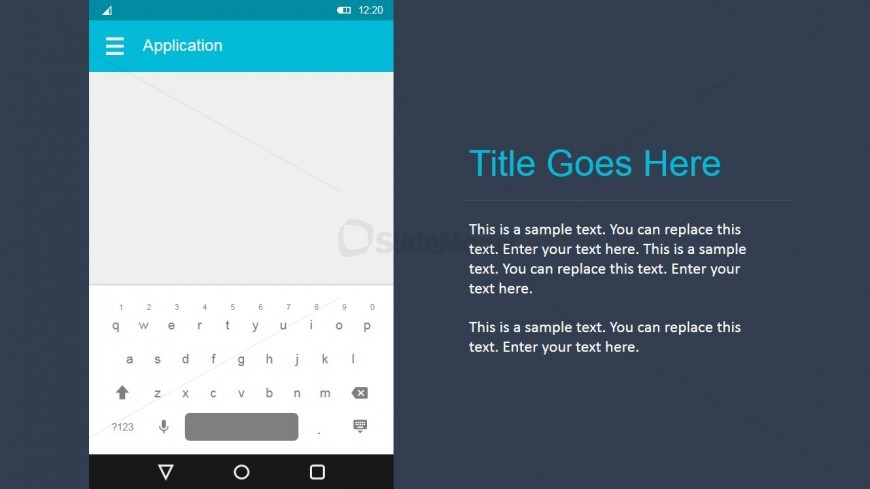 Android Material Design Keyboard Prototype for PowerPoint - SlideModel