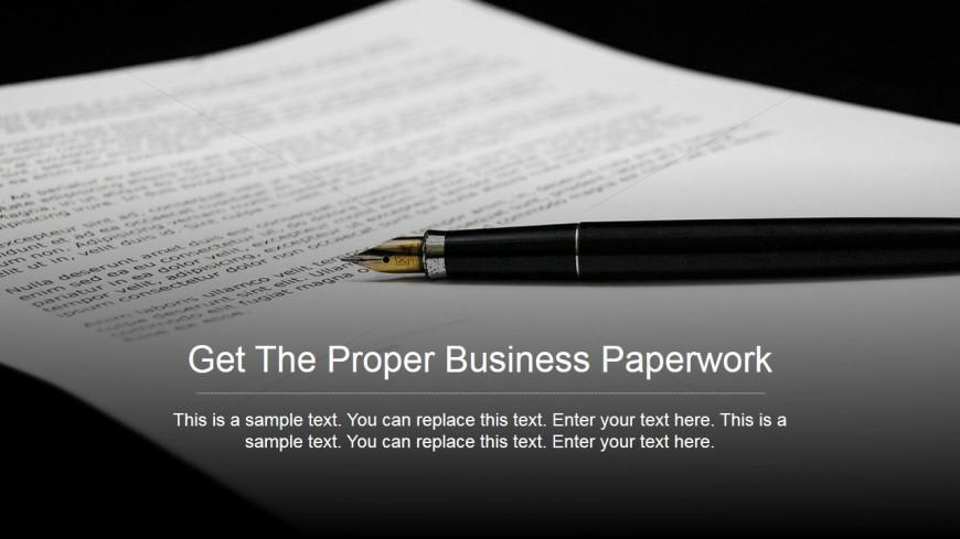 PowerPoint Background of Paperwork