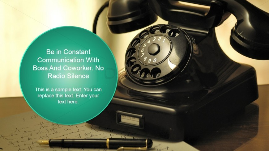 Vintage Phone Background for PowerPoint