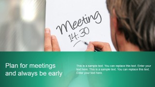 PowerPoint Template for Scheduling Meetings and Planning