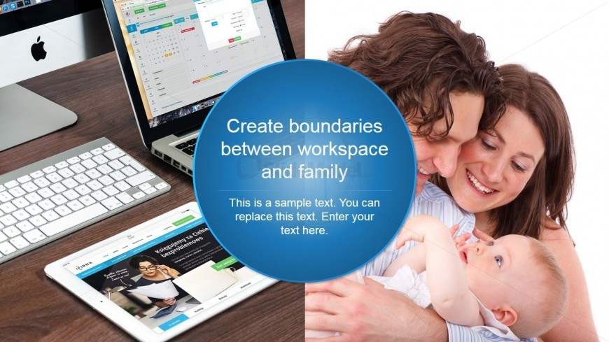 PowerPoint Design Metaphor of Family and Work