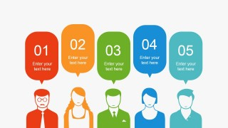 5 Step People Silhouettes for PowerPoint