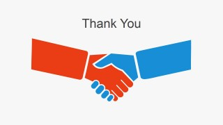 Simple Thank You Slide Hand Shaking
