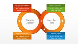 4 Steps Infinity Diagram with Text Boxes PowerPoint