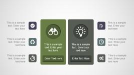 Two Comparison Columns PowerPoint Slide Design