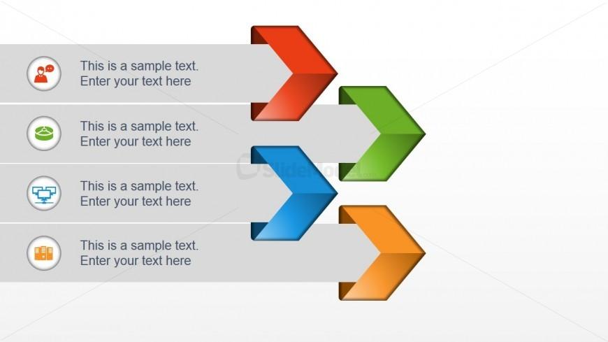 Four Arrows Concept Slide Design
