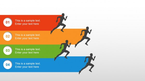 Running Metaphor Slide Design